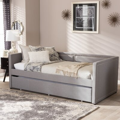 Glennis Daybed with Trundle Finish: Gray