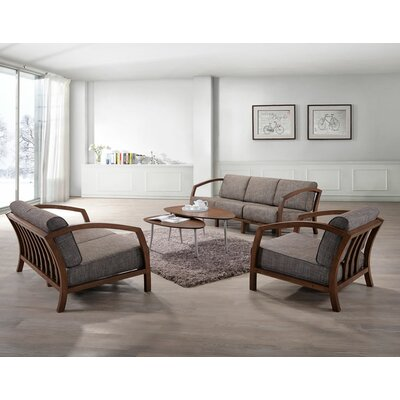 Aguiar 3 Piece Living Room Set