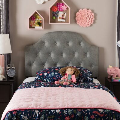 Rosanna Twin Upholstered Panel Headboard Upholstery: Coin Gray