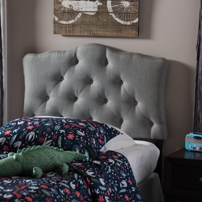 Myrna Twin Upholstered Panel Headboard Upholstery: Gray