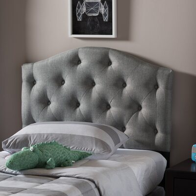 Illinois Twin Upholstered Panel Headboard Upholstery: Gray