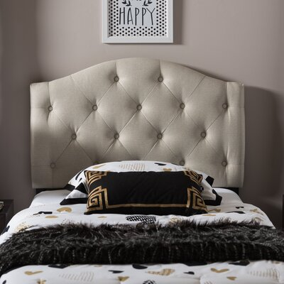 Illinois Twin Upholstered Panel Headboard Upholstery: Light Beige