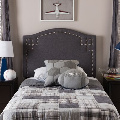 Cragin Twin Upholstered Panel Headboard Upholstery: Dark Gray
