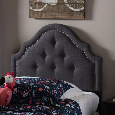 Yolanda Twin Upholstered Panel Headboard Upholstery: Dark Gray