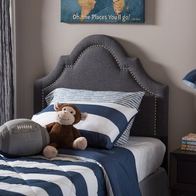Albritton Twin Panel Headboard Upholstery: Dark Gray