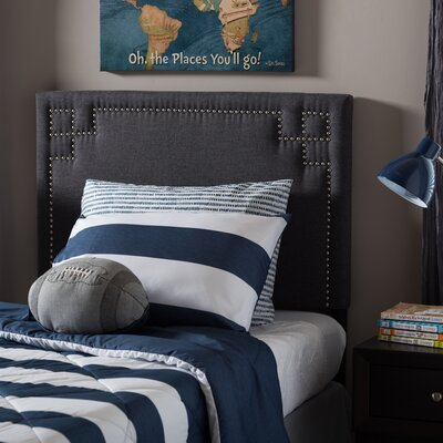 Lindeman Twin Upholstered Panel Headboard Upholstery: Dark Gray