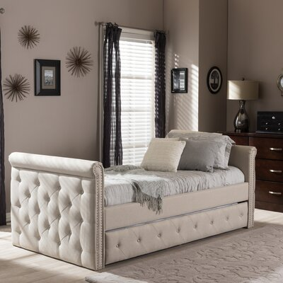 Roselawn Daybed with Trundle Color: Beige