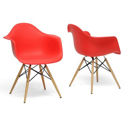 Tabiauea Arm Chair Finish: Red