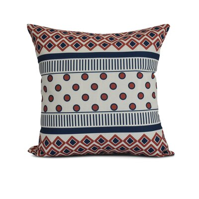 Rosalinda Throw Pillow Size: 18 H x 18 W x 3 D, Color: Orange