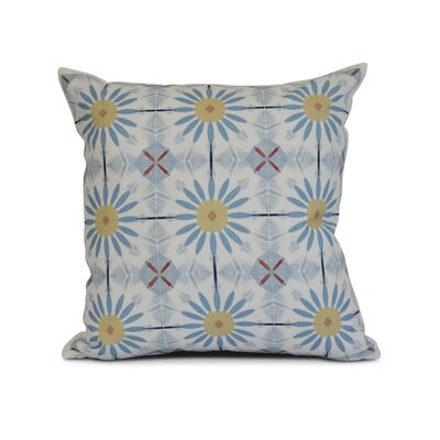 Rosalinda Throw Pillow Size: 16 H x 16 W x 3 D, Color: Light Blue