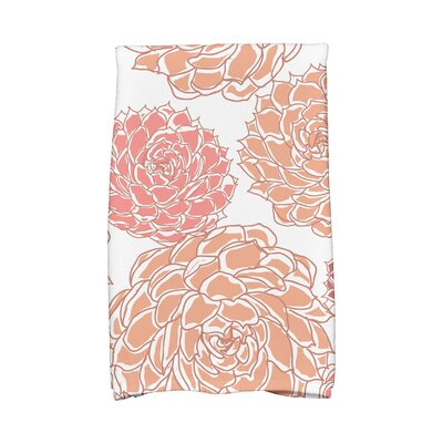Flower Cotton Hand Towel Color: Coral