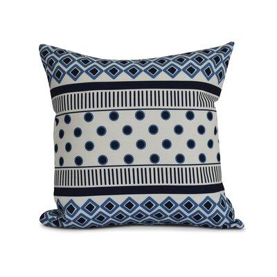 Rosalinda Throw Pillow Color: Navy Blue, Size: 20 H x 20 W x 3 D