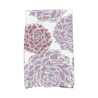 Flower Cotton Hand Towel Color: Purple