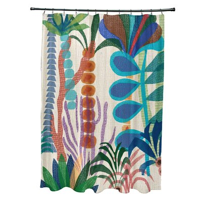 Braylen Shower Curtain Color: Yellow