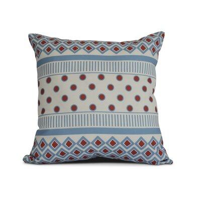 Rosalinda Throw Pillow Size: 18 H x 18 W x 3 D, Color: Light Blue