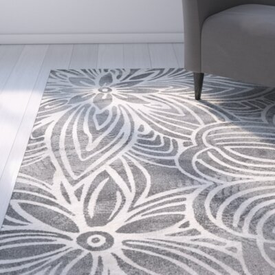 Daniel Noir Gray Area Rug Rug Size: Rectangle 8 x 11