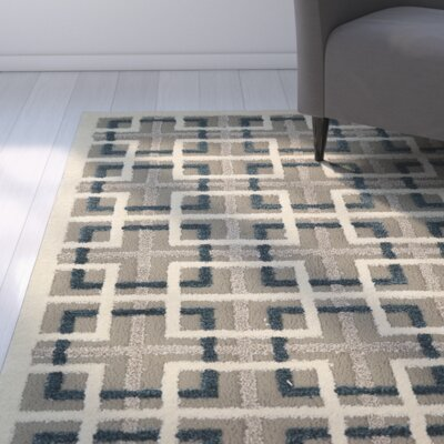 Angeline Gray Area Rug Rug Size: Rectangle 8 x 10