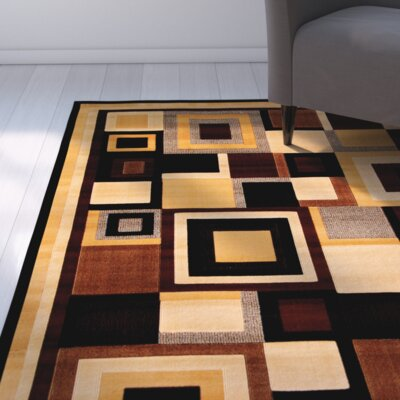 Doreen Black/Brown Indoor/Outdoor Area Rug