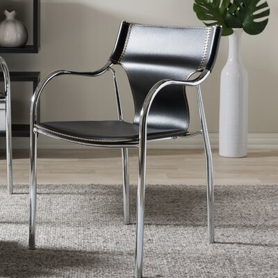 Reams Modern Dining Chair Upholstery: Black