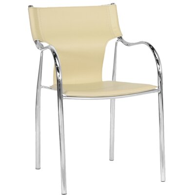 Edford Modern Dining Chair Upholstery: Ivory