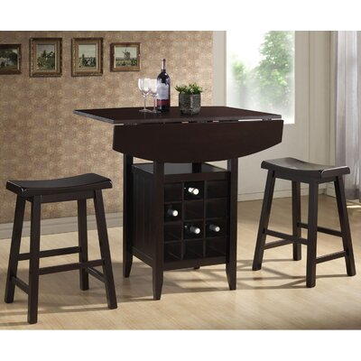 Elida 3 Piece Pub Table Set