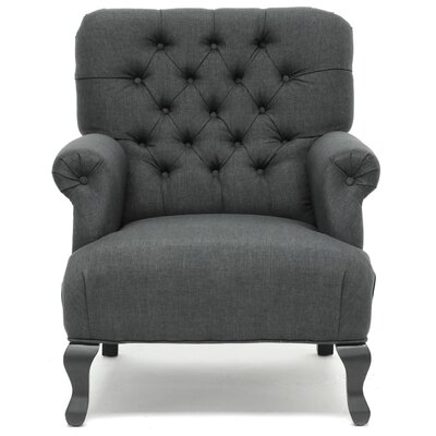 Gerhardine Armchair Pillow Fabric: Dark Charcoal Gray
