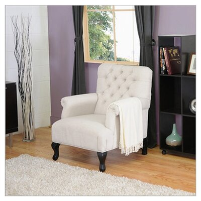 Gerhardine Armchair Pillow Fabric: Light Beige