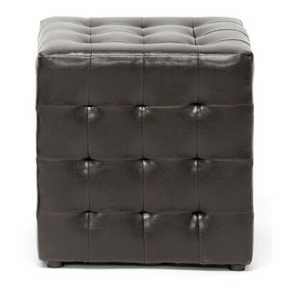 Richlands Cube Ottoman Upholstery: Dark Brown