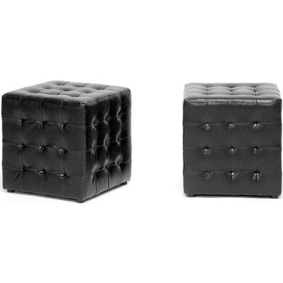 Richlands Cube Ottoman Upholstery: Black