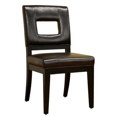Serpens Side Chair Upholstery: Dark Brown
