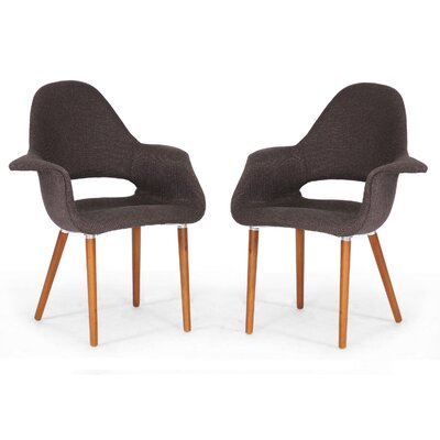 Calla Fabric Mid-Century Modern Armchair (Set of 2)