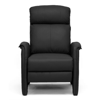 Calla Modern Arm Manual Recliner Upholstery: Black