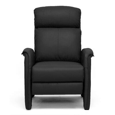 Calla Modern Arm Manual Recliner Upholstery: Black LATR7906 34461915