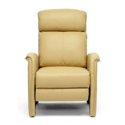Calla Modern Arm Manual Recliner Upholstery: Tan