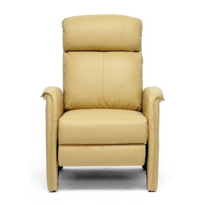 Calla Modern Arm Recliner Upholstery: Tan
