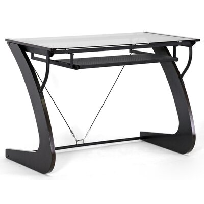 41.2 W Calla Modern Computer Table with Keyboard Tray