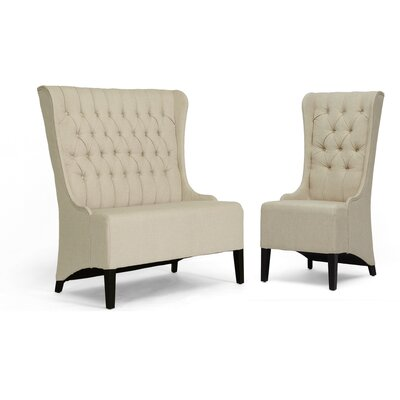 Calla Loveseat Bench and Chair Set
