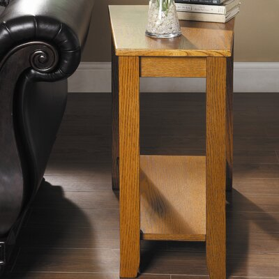 Alshain Chairside Table Finish: Oak