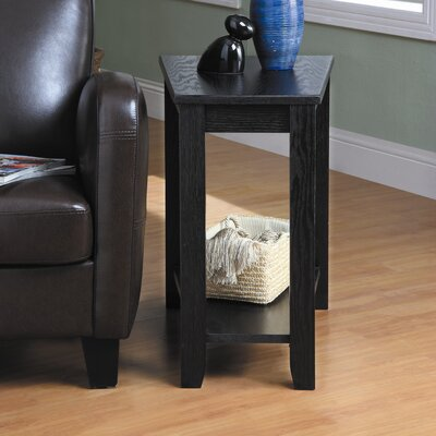 Alshain Chairside Table Finish: Black