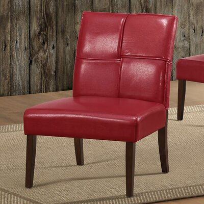 Australe Side Chair Color: Red
