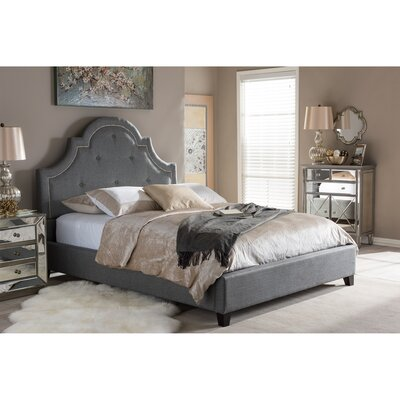 Lavinia Upholstered Platform Bed Upholstery: Grey, Size: King