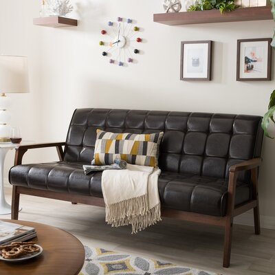 Tickenham Loveseat Upholstery: Brown