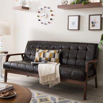 Fraser Loveseat Upholstery: Brown