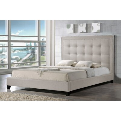 Tasha Upholstered Platform Bed Size: Queen, Upholstery: Light Beige