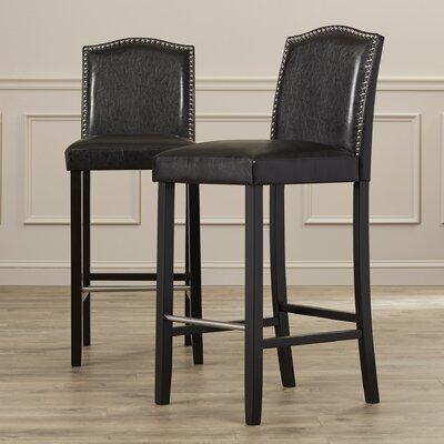 Cliffcrest 30.5 Bar Stool Upholstery: Dark Brown