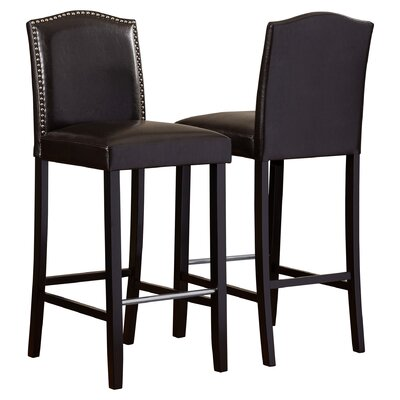 Kingsview 30.5 Bar Stool Upholstery: Dark Brown