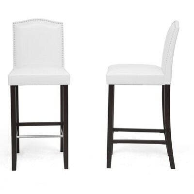 Cliffcrest 30.5 Bar Stool with Cushion Upholstery: White