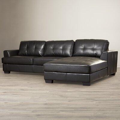 Elida St John Sectional Upholstery: Black