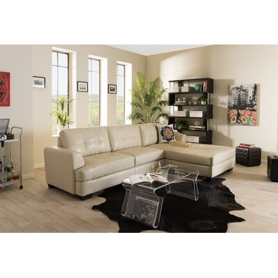 Elida St John Sectional Upholstery: Cream