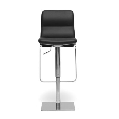 Calla Adjustable Height Swivel Bar Stool Upholstery: Black